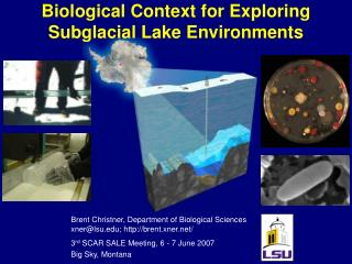 Biological Context for Exploring Subglacial Lake Environments
