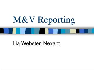 M&V Reporting