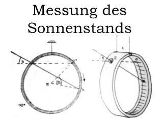 Messung des Sonnenstands