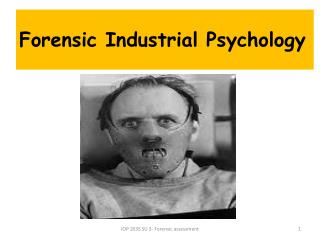 Forensic Industrial Psychology