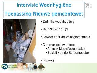 Intervisie Woonhygiëne Toepassing Nieuwe gemeentewet