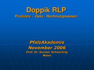 Doppik RLP Produkte – Ziele - Rechnungswesen