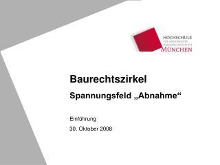 Einführung 30. Oktober 2008