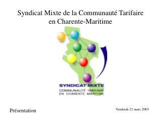 Syndicat Mixte de la Communauté Tarifaire en Charente-Maritime