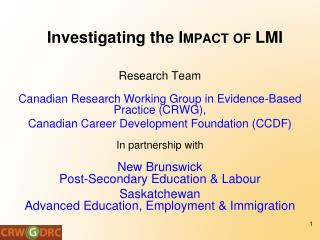 Investigating the  Impact  of LMI
