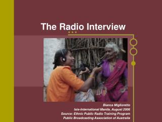 The Radio Interview