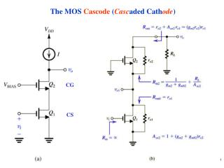 The MOS  Cascode  ( Casc aded Cath ode )