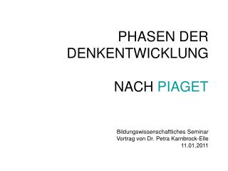 Jean Piaget – Biographie