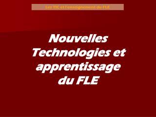 Les TIC et l'enseignement du FLE