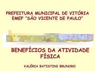 """PREFEITURA MUNICIPAL DE VITÓRIA EMEF """"SÃO VICENTE DE PAULO"""""""