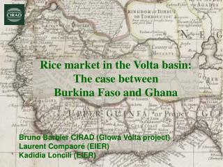 Rice market in the Volta basin: The case between  Burkina Faso and Ghana