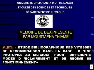 MEMOIRE DE DEA PRESENTE PAR MOUSTAPHA THIAME