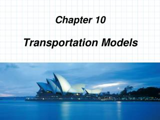 Transportation Models