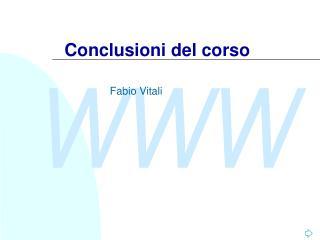 Conclusioni del corso
