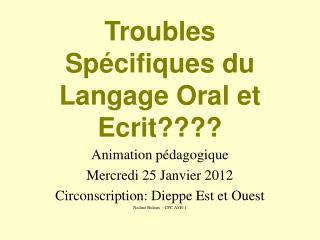 Troubles Spécifiques du Langage Oral et Ecrit????