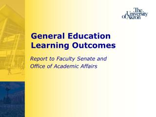 General Education  Learning Outcomes