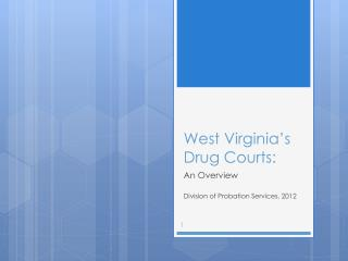 West Virginia's Drug Courts: