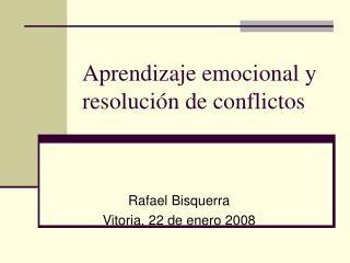 Aprendizaje emocional y resolución de conflictos