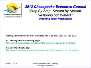 Weekly Conference Call info:   Dial (866) 299-3188  then Code 267 985 6222
