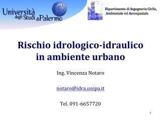 Rischio idrologico-idraulico in ambiente urbano