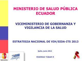 ESTRATEGIA NACIONAL DE VIH/SIDA-ITS 2013