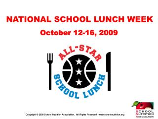 NATIONAL SCHOOL LUNCH WEEK