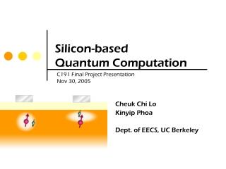Optical Quantum Computing Using Spin Qubits