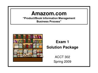 "Amazom ""Product/Book Information Management  Business Process"""