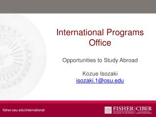 International Programs Office