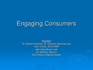 Engaging Consumers
