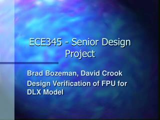 ECE345 - Senior Design Project