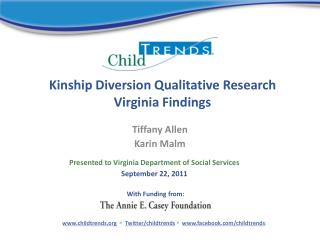Kinship Diversion Qualitative Research Virginia Findings