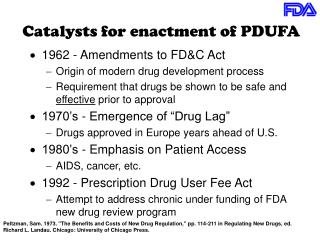 Catalysts for enactment of PDUFA