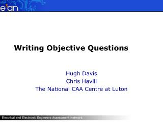 Writing Objective Questions