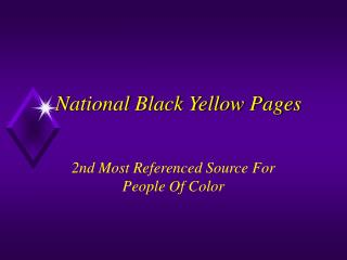 National Black Yellow Pages