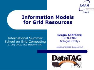 Information Models for Grid Resources