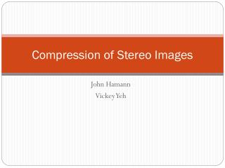 Compression of Stereo Images