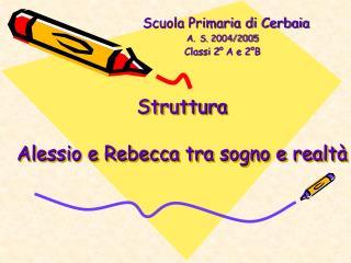 Struttura  Alessio e Rebecca tra sogno e realtà