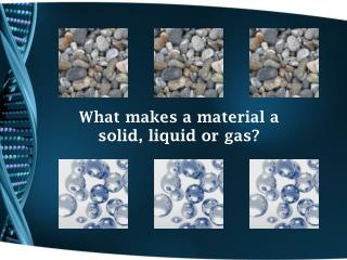 What makes a material a solid, liquid or gas?