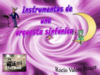 Instrumentos de  una  orquesta sinfónica