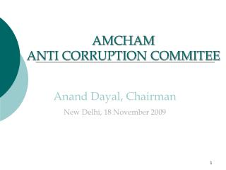 AMCHAM  ANTI CORRUPTION COMMITEE