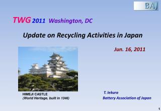 T.  Iekura Battery Association  of  Japan