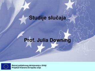 Studije slu čaja Prof. Julia Downing