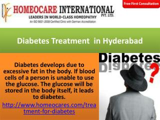Diabetes Treatment in Hyderabad