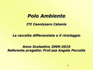 Polo Ambiente ITI Cannizzaro Catania La raccolta differenziata e il riciclaggio