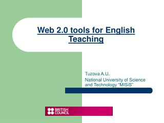 Web 2.0 tools  for  English T eaching