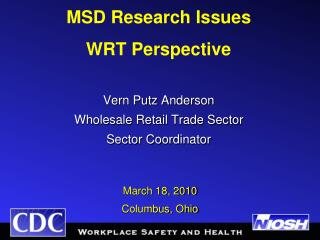 Vern Putz Anderson  Wholesale Retail Trade Sector  Sector Coordinator