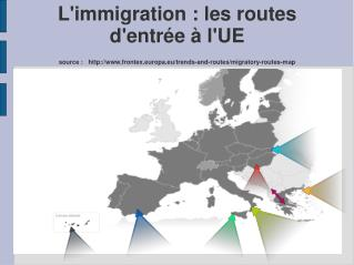 Les routes migratoires et les flux en 2012