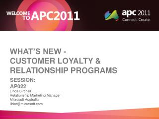What's new -   Customer loyalty & relationship programs
