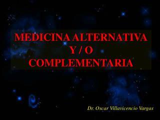 Dr. Oscar Villavicencio Vargas